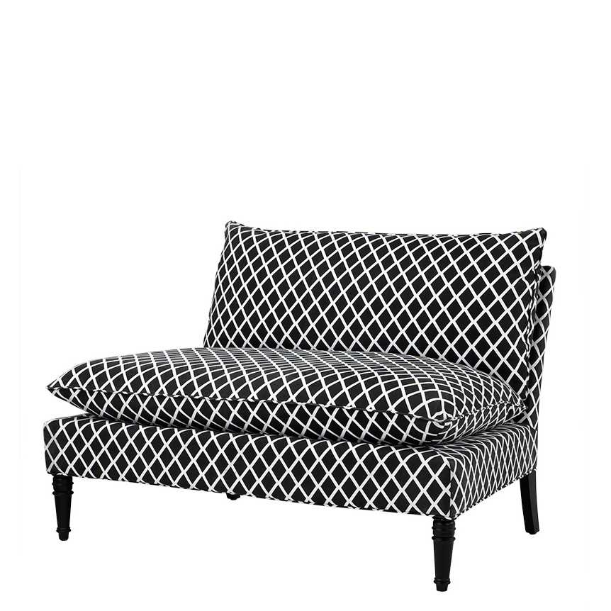 EICHHOLTZ Sofa Maxwell black and white diamond