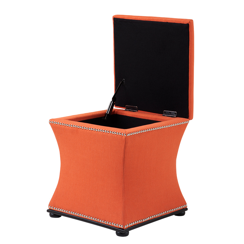EICHHOLTZ Chair Austin orange linen blend