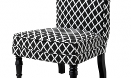 EICHHOLTZ Chair Berceau black and white diamond
