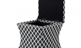 EICHHOLTZ Chair Austin black and white diamond