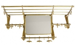 EICHHOLTZ Coatrack old french with mirror brass