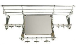 EICHHOLTZ Coatrack old french with mirror nickel