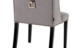 EICHHOLTZ Chair St. James grey linen Set von 2