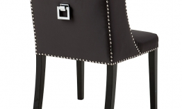 EICHHOLTZ Chair St. James dark grey Set von 2