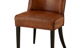 EICHHOLTZ Chair Barnes tobacco leather Set von 2
