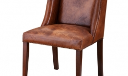 EICHHOLTZ Chair St. James tobacco leather Set von 2