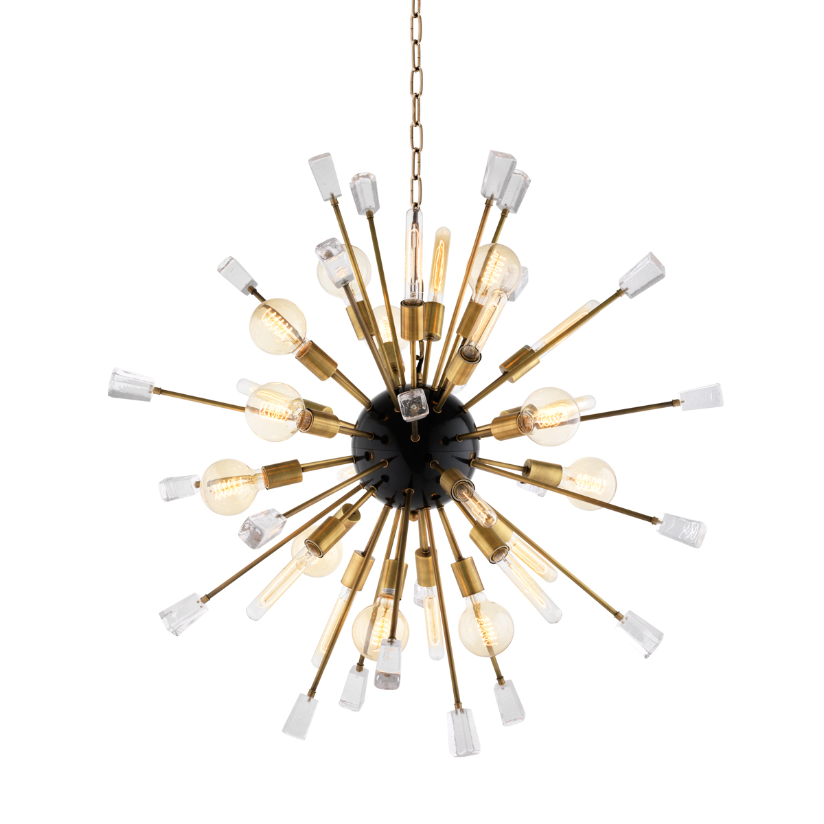 EICHHOLTZ Chandelier Tivoli brass Small