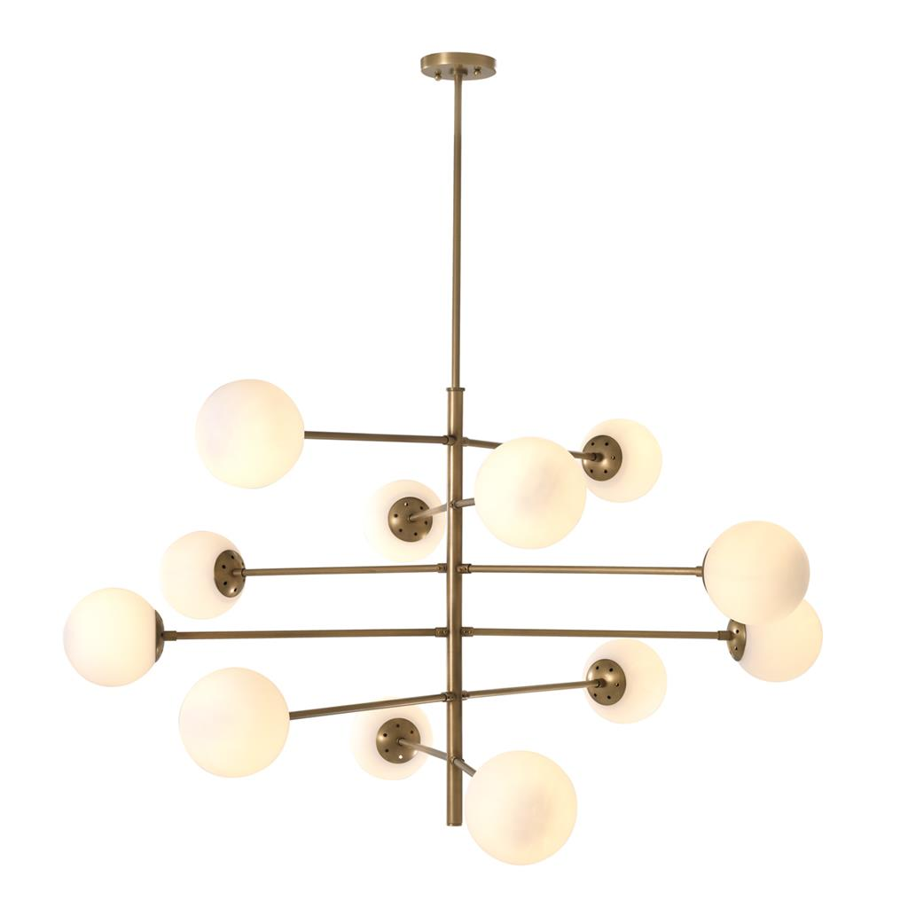 EICHHOLTZ Chandelier Tortora antique brass