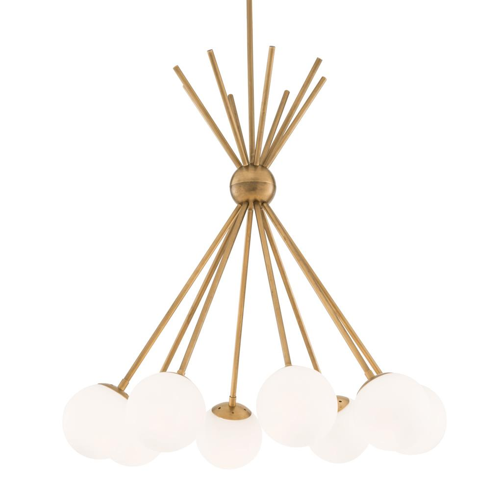 EICHHOLTZ Chandelier Luxor antique brass