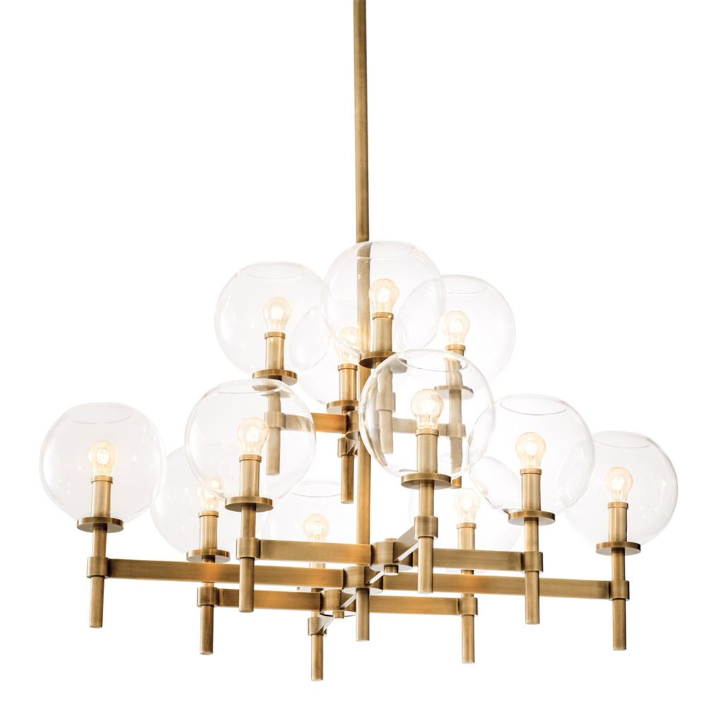 EICHHOLTZ Chandelier Jade L antique brass