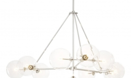 EICHHOLTZ Chandelier Bermude Nickel