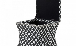 EICHHOLTZ Stool Austin black and white diamond