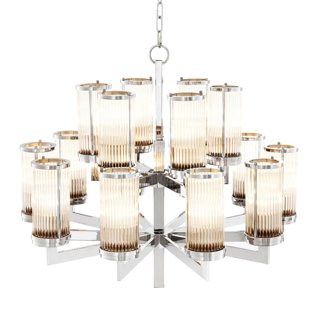 EICHHOLTZ Chandelier Claridges Nickel