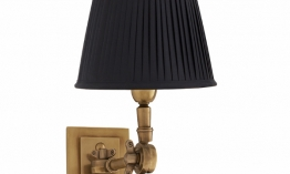 EICHHOLTZ Wandlampe Wentworth Single brass - black shade