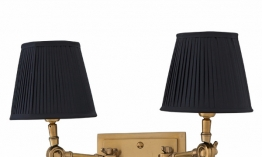 EICHHOLTZ Wandlampe Wentworth Double brass - black shade