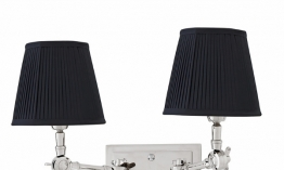 EICHHOLTZ Wandlampe Wentworth Double nickel - black shade
