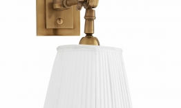EICHHOLTZ Wandlampe Wentworth Single brass - white shade