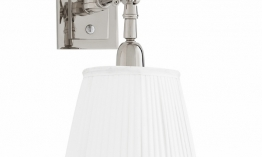 EICHHOLTZ Wandlampe Wentworth Single nickel - white shade