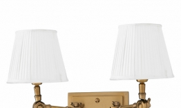 EICHHOLTZ Wandlampe Wentworth Double brass - white shade