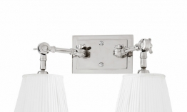 EICHHOLTZ Wandlampe Wentworth Double nickel - white shade