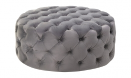 Liang-Eimil-Elgard-Round-Bench-Night-Grey-Velvet-BH-OTM-099