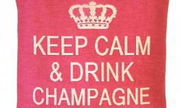 Sequoia Jacquard Kissen keep calm champange pink